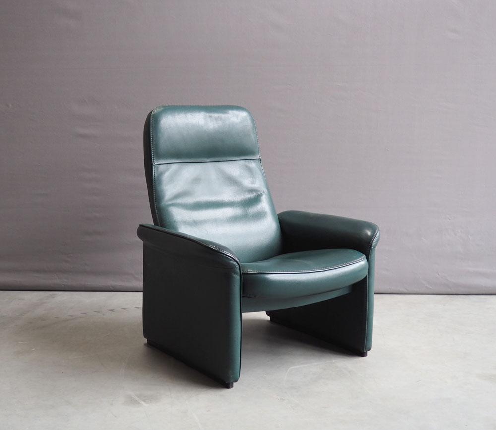 Fauteuil Leer Groen.Verkocht De Sede Ds50 Groen Leren Fauteuil