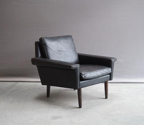 Fauteuil Leer Design.Jaren 60 Leren Deens Design Fauteuils