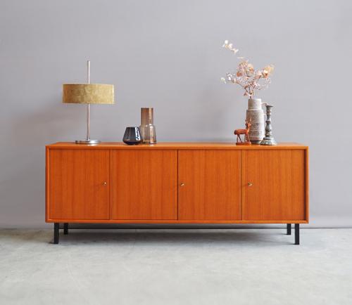 Laag Dressoir Zwart.Vintage Design Laag Dressoir Wk Mobel