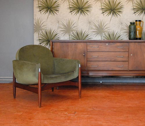 Deens design fauteuil velour for Mooie design fauteuils