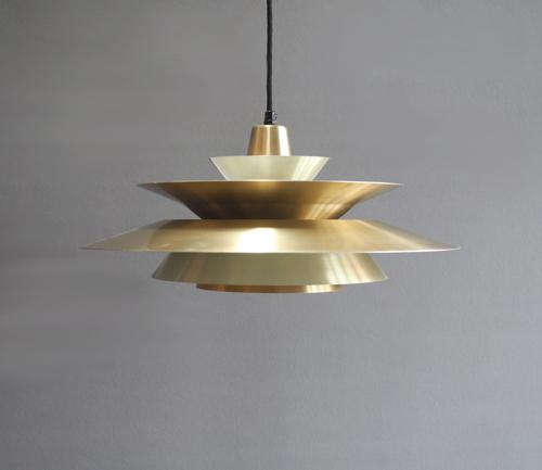 Verwonderend Verkocht: Deens design lamp messing gelaagd XY-39